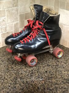 Riedell RedWing Black Leather Douglass Snyder's Super Deluxe Mens Roller Skates