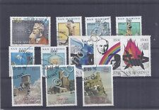 Francobolli - Stamps - San Marino -  4 serie -  usati - 1991