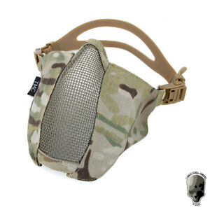 TMC Tactical Half Face Mesh Mask PDW Adjustale Foldable Combat Army Gear Hunting