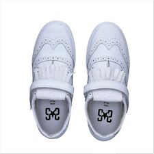 2 STAR scarpe donna sneakers bianco pelle glitter