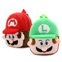 2017 New Mario Luigi Kindergarten School Bag Kid's Backpack 23*21*9CM Gift