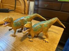 Vintage Lot (2) 1996 Carcharodontosaurus Safari Ltd Plastic Dinosaurs Figure Toy