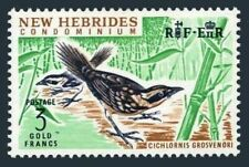 New Hebrides Br 106,lightly hinged.Michel 215. Thicket warbler,1965