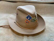 Vintage Walt Disney World Collectible Safari Hat with Safari Pins Men's Medium