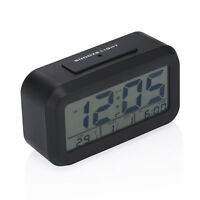 Digital Alarm Table Desk Clock LED Light Snooze Date Time Thermometer Display