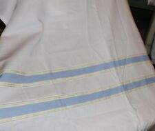 NAUTICA HAMILTON STRIPE WHITE YELLOW BLUE (PAIR) PANELS CURTAINS 42 X 84 EACH