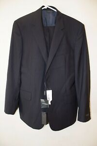 Calvin Klein Regular Fit Navy Pinstripe Suit Jacket 40R With Trousers 34R