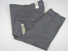 New DOCKERS Khaki Gray Casual Dress Pants Flat Front Men 46x30 Stretch
