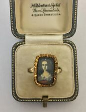 A Lovely Georgian Portrait Miniature Ring Circa 1800's
