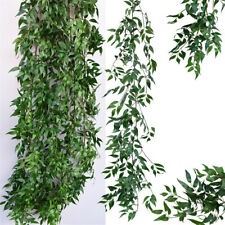 Artificial Rattan Willow Vine Garland Silk Greenery Leaves Home Wedding Décor