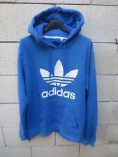 Sweat à capuche ADIDAS rétro vintage TREFOIL bleu collection sport M