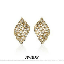 LOVELY ITALINA 18K ROSE GOLD PLATED GENUINE AUSTRIAN CRYSTAL STUD  EARRINGS