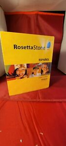 New Sealed Rosetta Stone V3 Spanish Personal Edition Levels 1-5 for PC, Mac