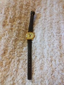 Vintage MICKEY MOUSE Disney Women's Watch * Lorus * Brown Band * Needs Battery