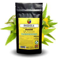 Rhodiola Extract Capsules - 500mg - 5% Rosavins 3% Salidrosides + FREE GIFT