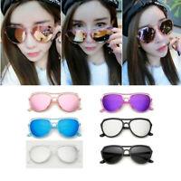 Lightweight Transparent Frame Mirror Reflective Lense Men Women Cool Sunglasses