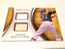 Andrew McCutchen 2016 Panini Immaculate Coll. Game Used Jersey/Bat Card #/99
