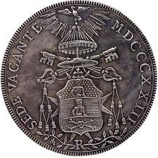 COPIA moneta collezione STATO PONTIFICIO scudo 1823 sede vacante 4cm chiesa Roma