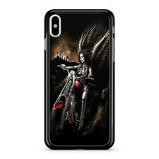 Celestial Winged Skull Motorbike Rider Angel Misty Graveyard 2D Phone Case