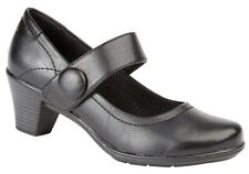 Ladies Boulevard Court Shoes Black Work Med Heel Leather Lined Size 3,4,5,6,7,8