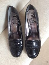 Ladies black Patent Fiore Shoes. 6. Worn Once. Ex Cond