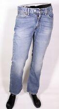 GJ8-69 Levis 614 Herren Jeans straight leg W33 L30 blau Zip Fly Used-Look