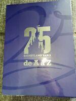 LIVRE DE A A Z 25 ans Disneyland Paris New Français Anglais NEUF