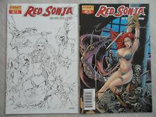 2 rare RED SONJA #16 VARIANTS: Black & white sketch + Jim Balent VARIANT Cover!