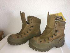 army boots Genuine Leather Braun men size 9w 17 B7