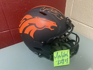 Broncos Champ Bailey Autographed Signed Eclipse Full Size Speed Helmet Rep