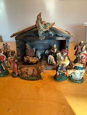 vintage nativity set italy Large Lot