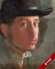 EDGAR DEGAS MASTER FRENCH ARTIST SELF PORTRAIT PAINTING ART REAL CANVAS PRINT