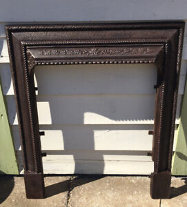 New ListingVintage Early Ornate 1900s Cast Iron Fireplace Mantle Surround