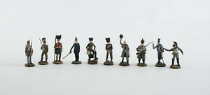 Franklin Mint. Waterloo Regiments Zinnfiguren. Handbemalt. 10 Stück