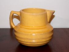 McCoy Pottery Art Pottery Early Rare Yellow Ringed Pitcher 1920's