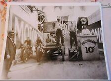 1915 Coney Island Motordrome Motorcycle Automobile Racing Photo Reprint New York