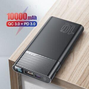18W Power Bank 10000mAh QC 3.0 PD Fast Charging External Battery Pack USB Type C
