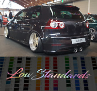 "Low Standards 24"" holographic oil slick chrome windshield sticker JDMMugen decal"