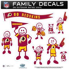 Washington Redskins Family Decal Set, NFL Licensed Team Stickers