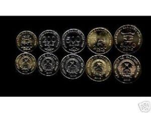 VIETNAM 200 500 1000 2000 5000 DONG 2003 UNC MONEY COMPLETE X 5 V COIN SET