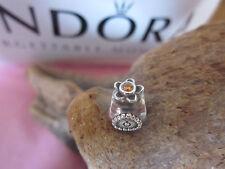 ORIGINALE Pandora RARO Arancione BOTTIGLIA PROFUMO Charm 7904270cz ALE 925