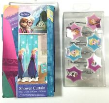New Disney Frozen Shower Curtain Plus 12 Hooks Package Anna Elsa Olaf