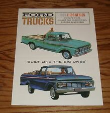 1963 Ford Truck F-100 Series Sales Brochure 63 Pickup Chassis-Cab Stake