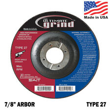 United Abrasives SAIT Ultimate Grind Premium 4-1/2 Grinding Wheel Type 27 QTY 5