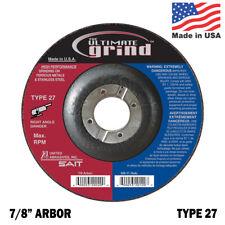 United Abrasives SAIT Ultimate Grind Premium 4-1/2 Grinding Wheel Type 27 QTY 10