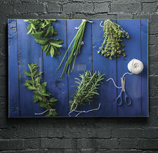 Glass Picture Wall Art Canvas Digital Print in ANY SIZE Fresh Herbs 42812372