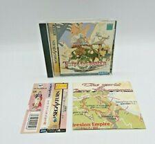 Terra Phantastica Sega Saturn + Manual Map SS Japan NTSC-J Damaged Spine Card
