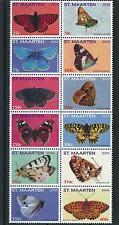 [SM053] St. Martin Maarten 2012 Butterflies Schmetterlingen MNH # 53-64