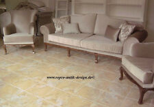 Sofagarnitur Couchgarnitur Barock Sofa Sessel Couch Massivholz Klassisch Florenz