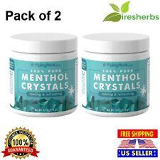 2X 100% PURE MENTHOL CRYSTALS COOLING & REFRESHING NATURAL CARMINATIVE HERB 8 OZ